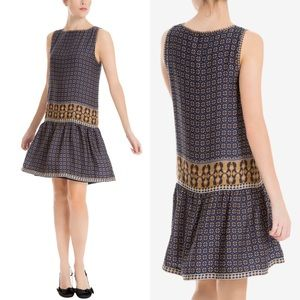 Max Studio London Printed Drop Waist Dress